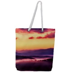 Great Smoky Mountains National Park Full Print Rope Handle Tote (Large)