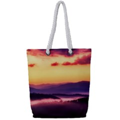 Great Smoky Mountains National Park Full Print Rope Handle Tote (Small)