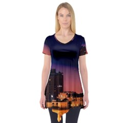 San Francisco Night Evening Lights Short Sleeve Tunic