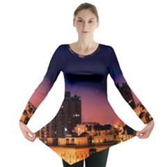 San Francisco Night Evening Lights Long Sleeve Tunic