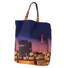 San Francisco Night Evening Lights Giant Grocery Zipper Tote