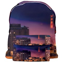 San Francisco Night Evening Lights Giant Full Print Backpack by BangZart