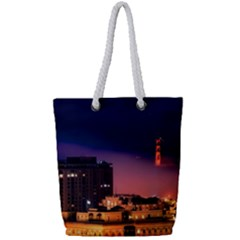 San Francisco Night Evening Lights Full Print Rope Handle Tote (small)