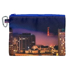 San Francisco Night Evening Lights Canvas Cosmetic Bag (xl) by BangZart