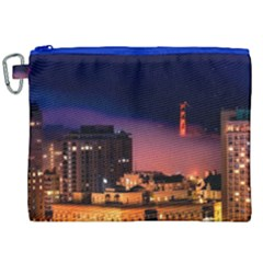 San Francisco Night Evening Lights Canvas Cosmetic Bag (xxl)