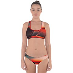 Sunset Dusk Boat Sea Ocean Water Cross Back Hipster Bikini Set