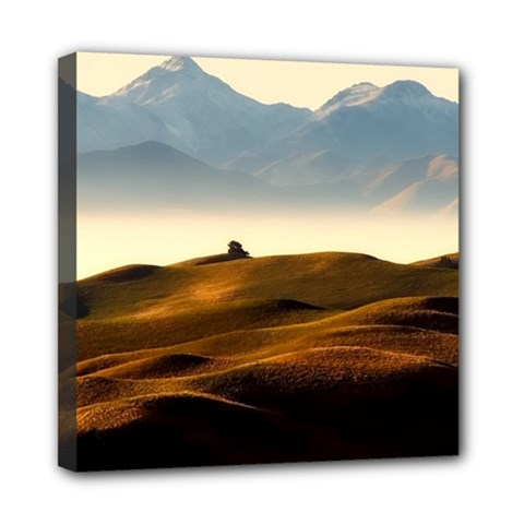 Landscape Mountains Nature Outdoors Mini Canvas 8  X 8  by BangZart