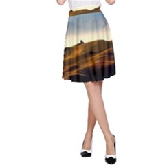 Landscape Mountains Nature Outdoors A Line Skirt