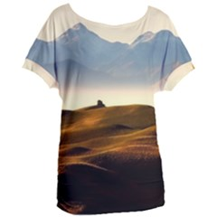 Landscape Mountains Nature Outdoors Women s Oversized Tee by BangZart