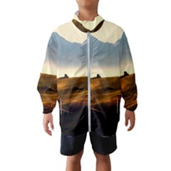 Landscape Mountains Nature Outdoors Wind Breaker (kids)