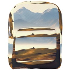 Landscape Mountains Nature Outdoors Full Print Backpack