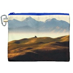 Landscape Mountains Nature Outdoors Canvas Cosmetic Bag (xxl)