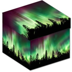 Aurora Borealis Northern Lights Storage Stool 12