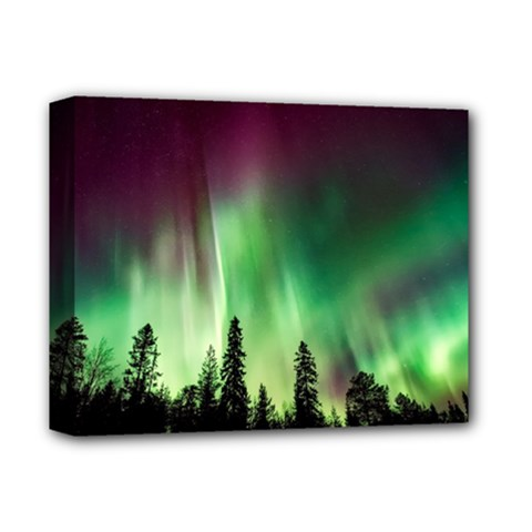 Aurora Borealis Northern Lights Deluxe Canvas 14  X 11