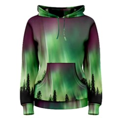 Aurora Borealis Northern Lights Women s Pullover Hoodie