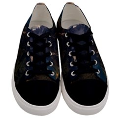 Italy Valley Canyon Mountains Sky Men s Low Top Canvas Sneakers