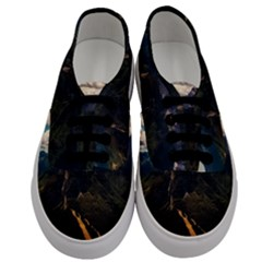 Italy Valley Canyon Mountains Sky Men s Classic Low Top Sneakers