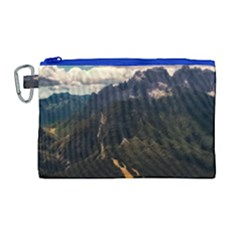 Italy Valley Canyon Mountains Sky Canvas Cosmetic Bag (large)