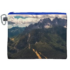 Italy Valley Canyon Mountains Sky Canvas Cosmetic Bag (xxl)