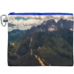 Italy Valley Canyon Mountains Sky Canvas Cosmetic Bag (xxxl)