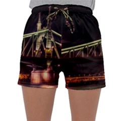 Budapest Hungary Liberty Bridge Sleepwear Shorts