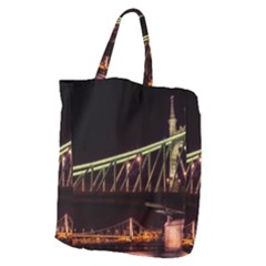 Budapest Hungary Liberty Bridge Giant Grocery Zipper Tote