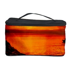 Alabama Sunset Dusk Boat Fishing Cosmetic Storage Case by BangZart