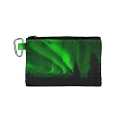 Aurora Borealis Northern Lights Canvas Cosmetic Bag (small)