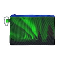 Aurora Borealis Northern Lights Canvas Cosmetic Bag (large)