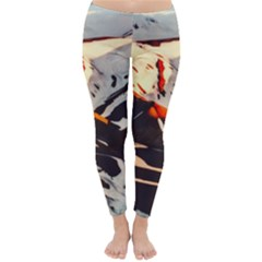 Iceland Landscape Mountains Snow Classic Winter Leggings by BangZart