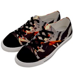 Iceland Landscape Mountains Snow Men s Low Top Canvas Sneakers by BangZart