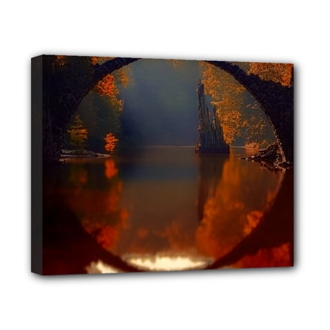 River Water Reflections Autumn Canvas 10  X 8