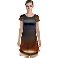 River Water Reflections Autumn Cap Sleeve Nightdress by BangZart