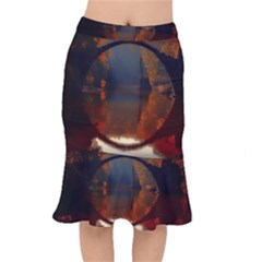 River Water Reflections Autumn Mermaid Skirt