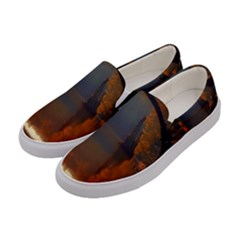 River Water Reflections Autumn Women s Canvas Slip Ons by BangZart