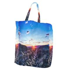 Iceland Landscape Mountains Stream Giant Grocery Zipper Tote