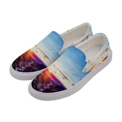 Iceland Landscape Mountains Stream Women s Canvas Slip Ons by BangZart