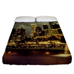 Singapore City Urban Skyline Fitted Sheet (king Size)