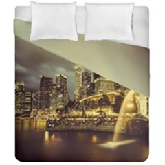 Singapore City Urban Skyline Duvet Cover Double Side (california King Size) by BangZart