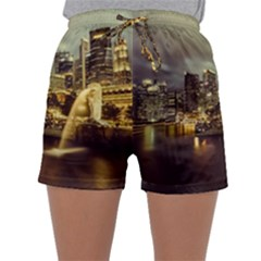 Singapore City Urban Skyline Sleepwear Shorts