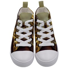Singapore City Urban Skyline Kid s Mid-top Canvas Sneakers