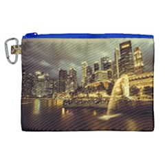 Singapore City Urban Skyline Canvas Cosmetic Bag (xl) by BangZart