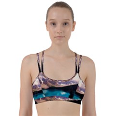 Austria Mountains Lake Water Line Them Up Sports Bra