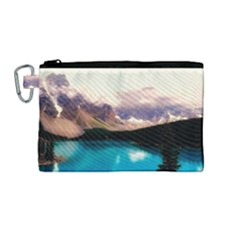 Austria Mountains Lake Water Canvas Cosmetic Bag (medium)