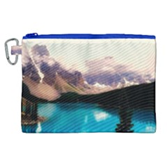 Austria Mountains Lake Water Canvas Cosmetic Bag (xl)