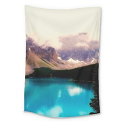 Austria Mountains Lake Water Large Tapestry