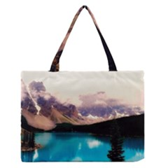 Austria Mountains Lake Water Zipper Medium Tote Bag by BangZart