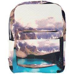 Austria Mountains Lake Water Full Print Backpack