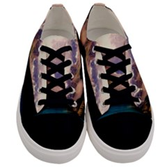 Austria Mountains Lake Water Men s Low Top Canvas Sneakers