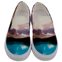 Austria Mountains Lake Water Men s Canvas Slip Ons